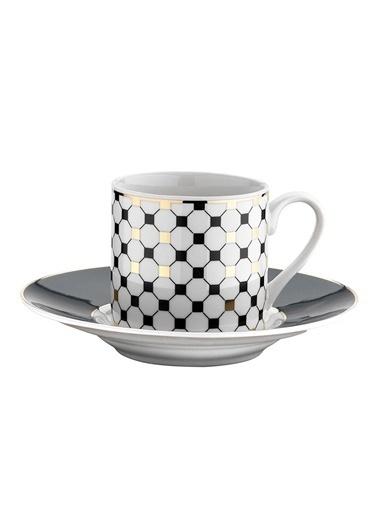 Kütahya Porselen Rüya 7697 /12 Desen Kahve Fincan Takımı Renkli